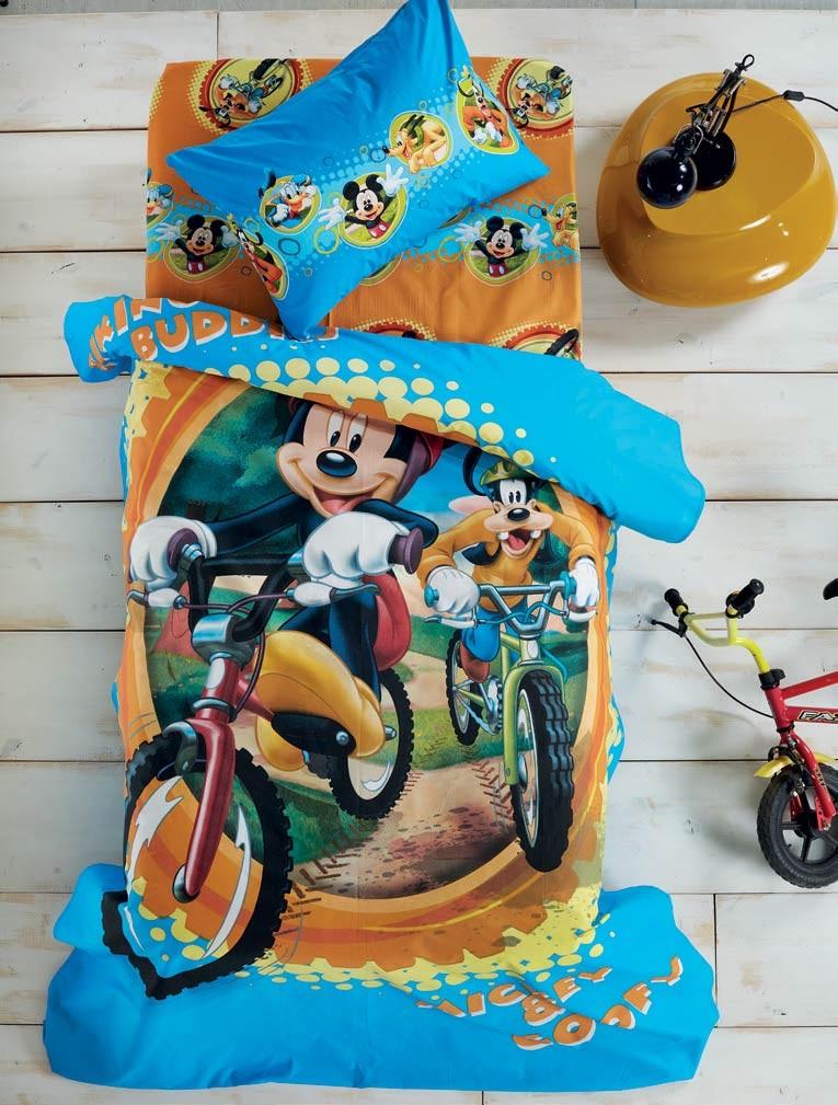 Σεντόνια Μονά (Σετ) White Egg Disney Mickey Bike D4