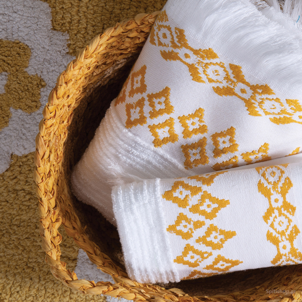 Πετσέτες Μπάνιου (Σετ 3τμχ) Nef-Nef Arabi Yellow