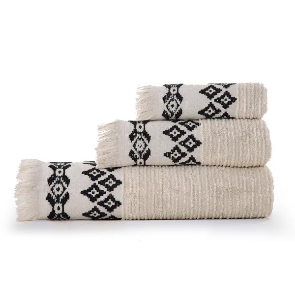 Πετσέτες Μπάνιου (Σετ 3τμχ) Nef-Nef Arabi Natural