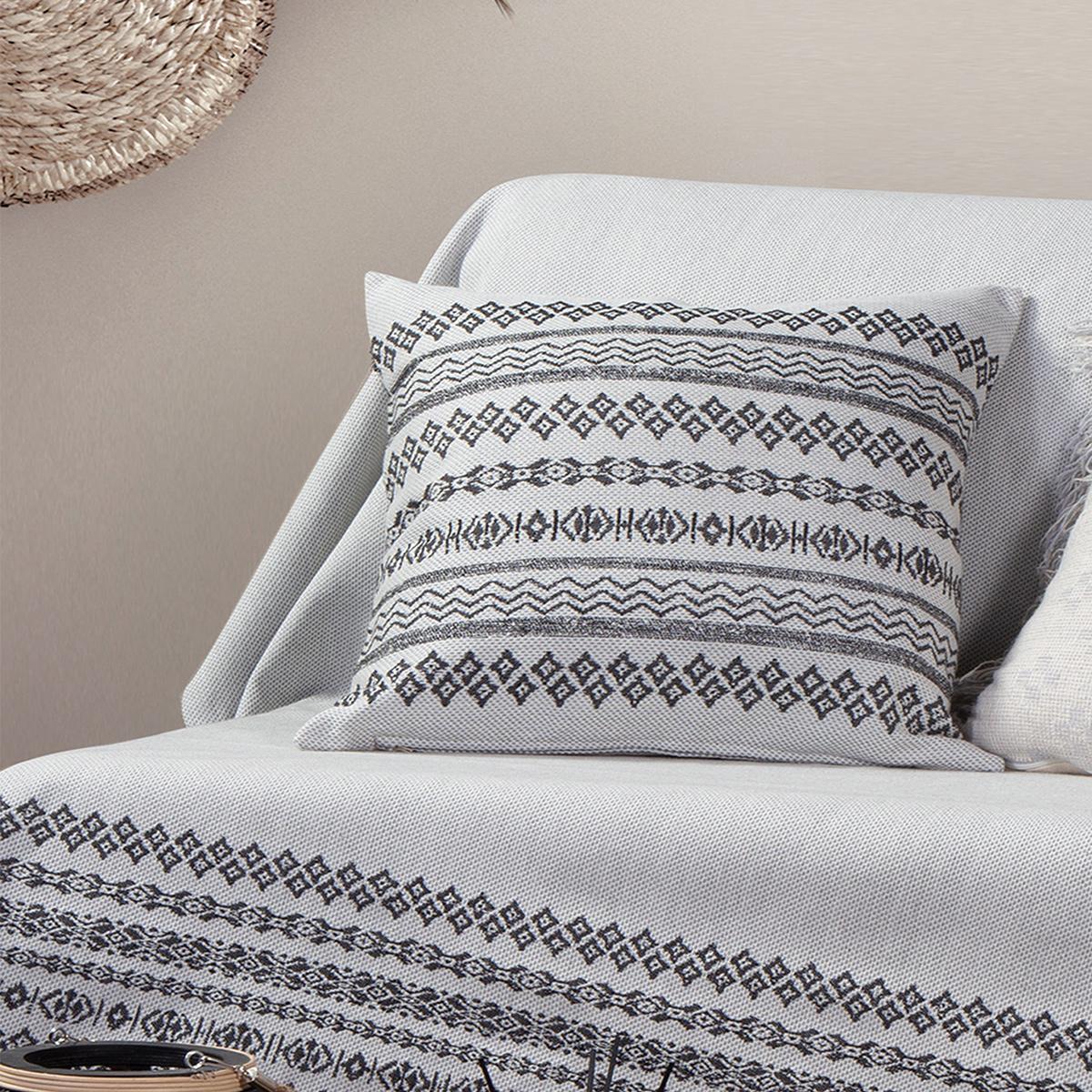 Διακοσμητικό Μαξιλάρι (50×50) Nef-Nef Arabi White/Black