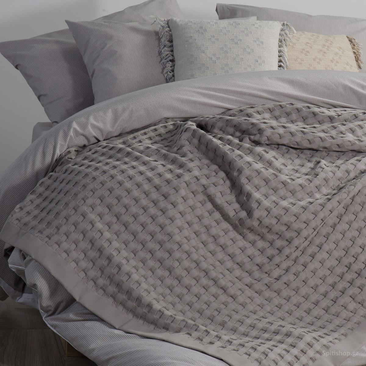 Κουβέρτα Πικέ Υπέρδιπλη Nef-Nef Organic Grey