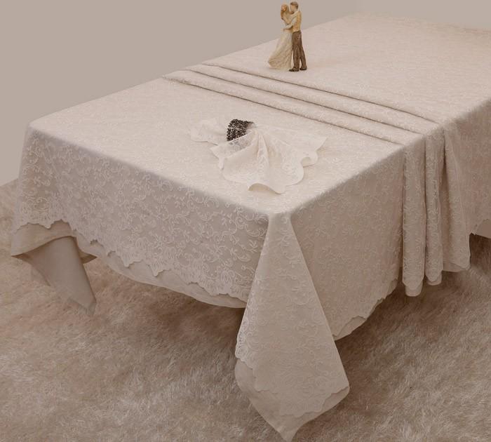 Τραπεζομάντηλο Δαντέλα (150×150) Anna Riska Des 2330 Ivory