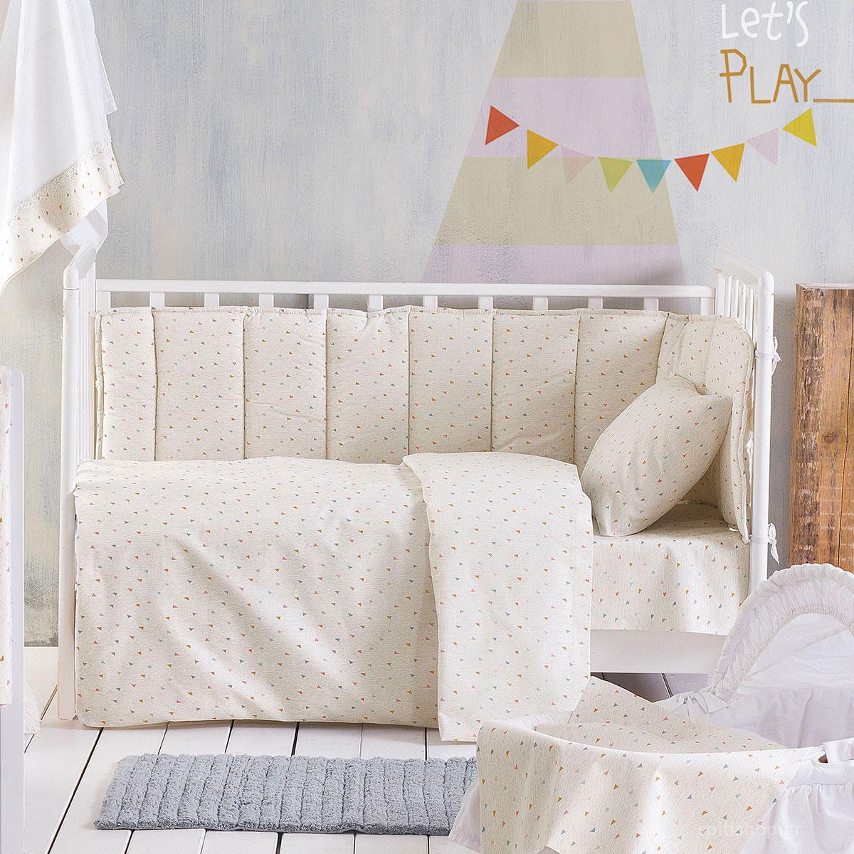 Πάπλωμα Κούνιας Rythmos Baby Confetti Beige