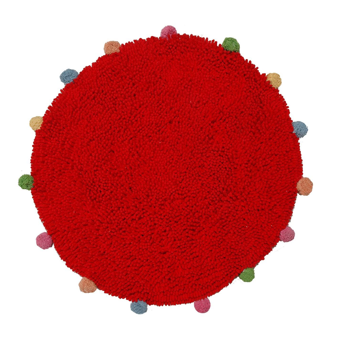 Πατάκι Μπάνιου San Lorentzo Pom Poms Red