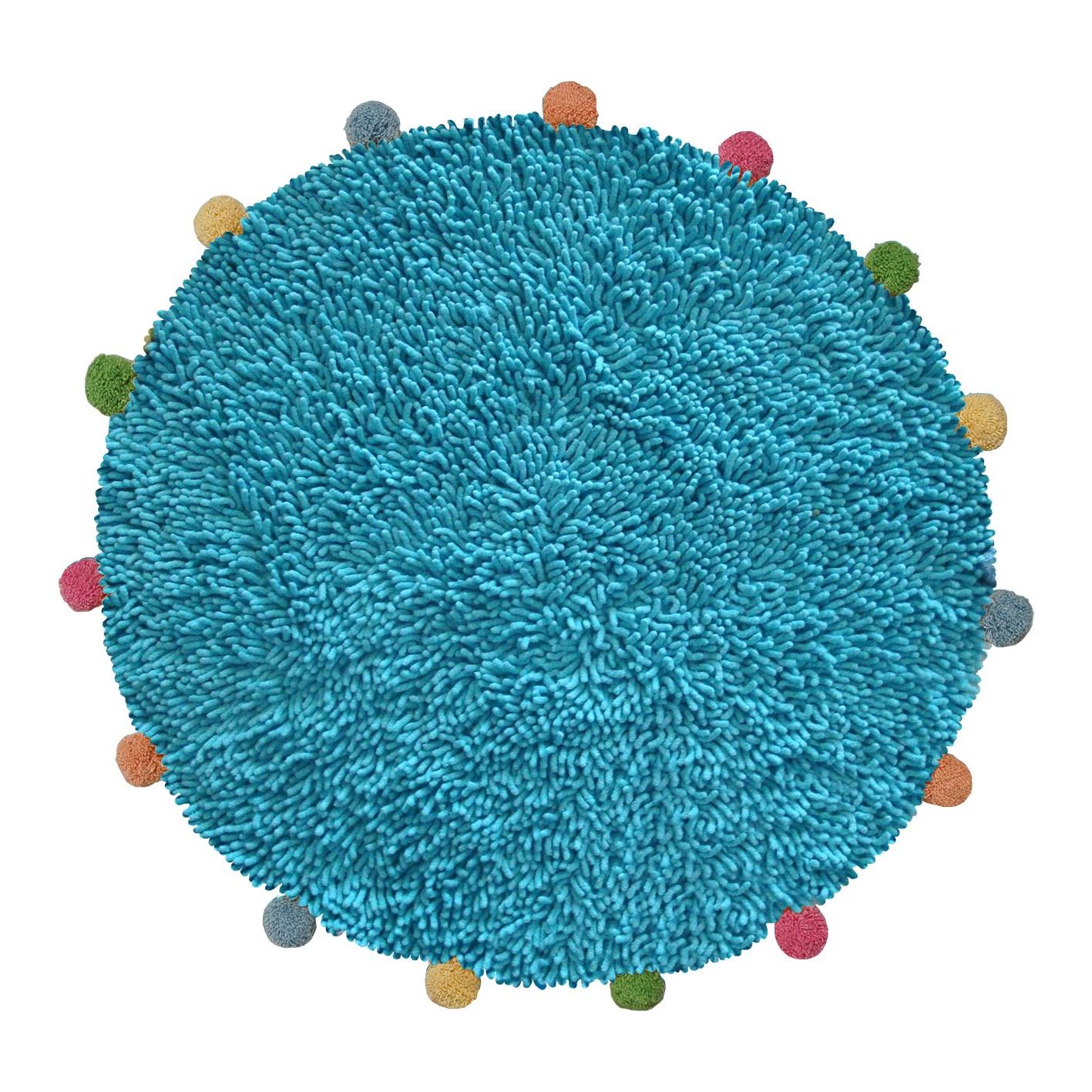 Πατάκι Μπάνιου San Lorentzo Pom Poms Turquoise