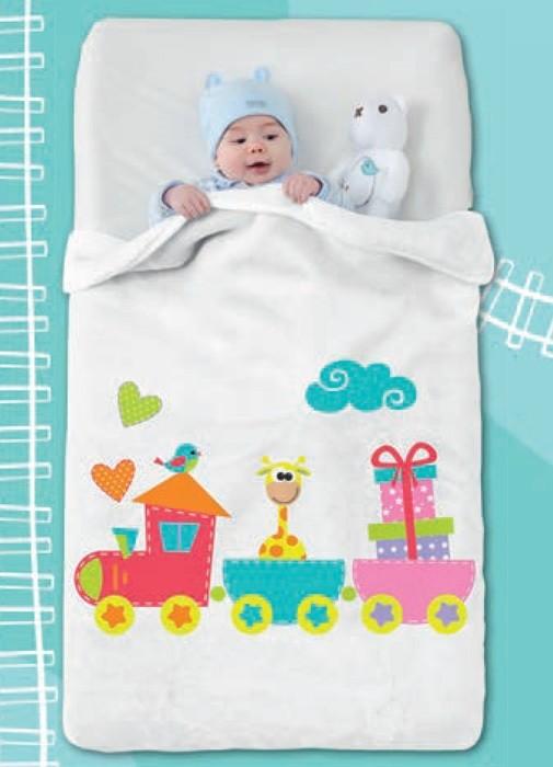 Κουβέρτα Βελουτέ Κούνιας Manterol Happy 708 C15 home   βρεφικά   κουβέρτες βρεφικές   κουβέρτες βελουτέ