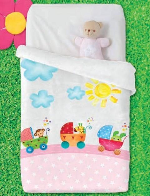 Κουβέρτα Βελουτέ Κούνιας Manterol Baby Vip 513 C04