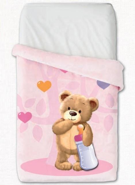 Κουβέρτα Βελουτέ Κούνιας Manterol Baby Vip 514 C04