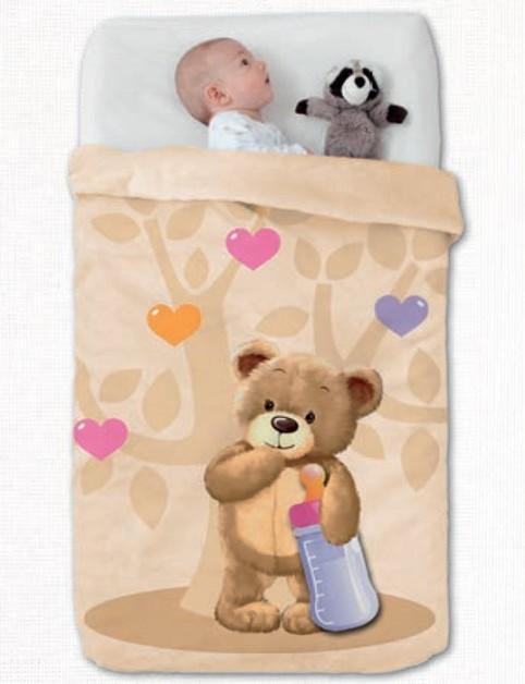 Κουβέρτα Βελουτέ Κούνιας Manterol Baby Vip 514 C07