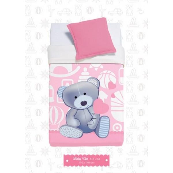 Κουβέρτα Βελουτέ Κούνιας Manterol Baby Vip 510 C04