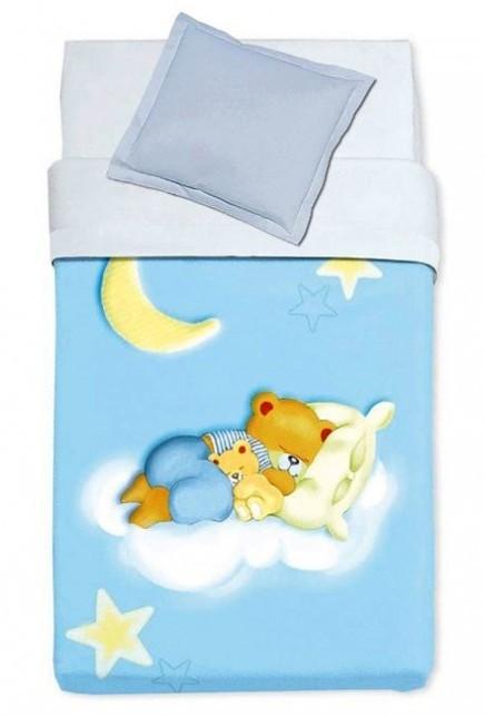 Κουβέρτα Βελουτέ Κούνιας Manterol Baby Alfa 853 C08