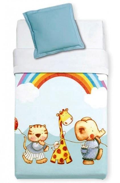 Κουβέρτα Βελουτέ Κούνιας Manterol Baby Alfa 857 C08
