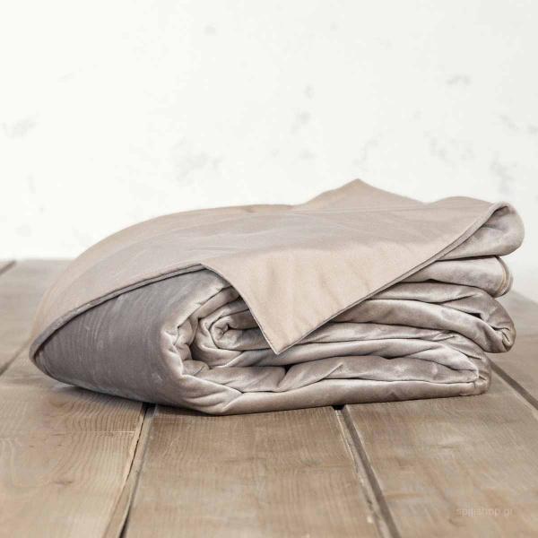 Παπλωματοθήκη Βελουτέ Μονή Nima Bed Linen Nuan