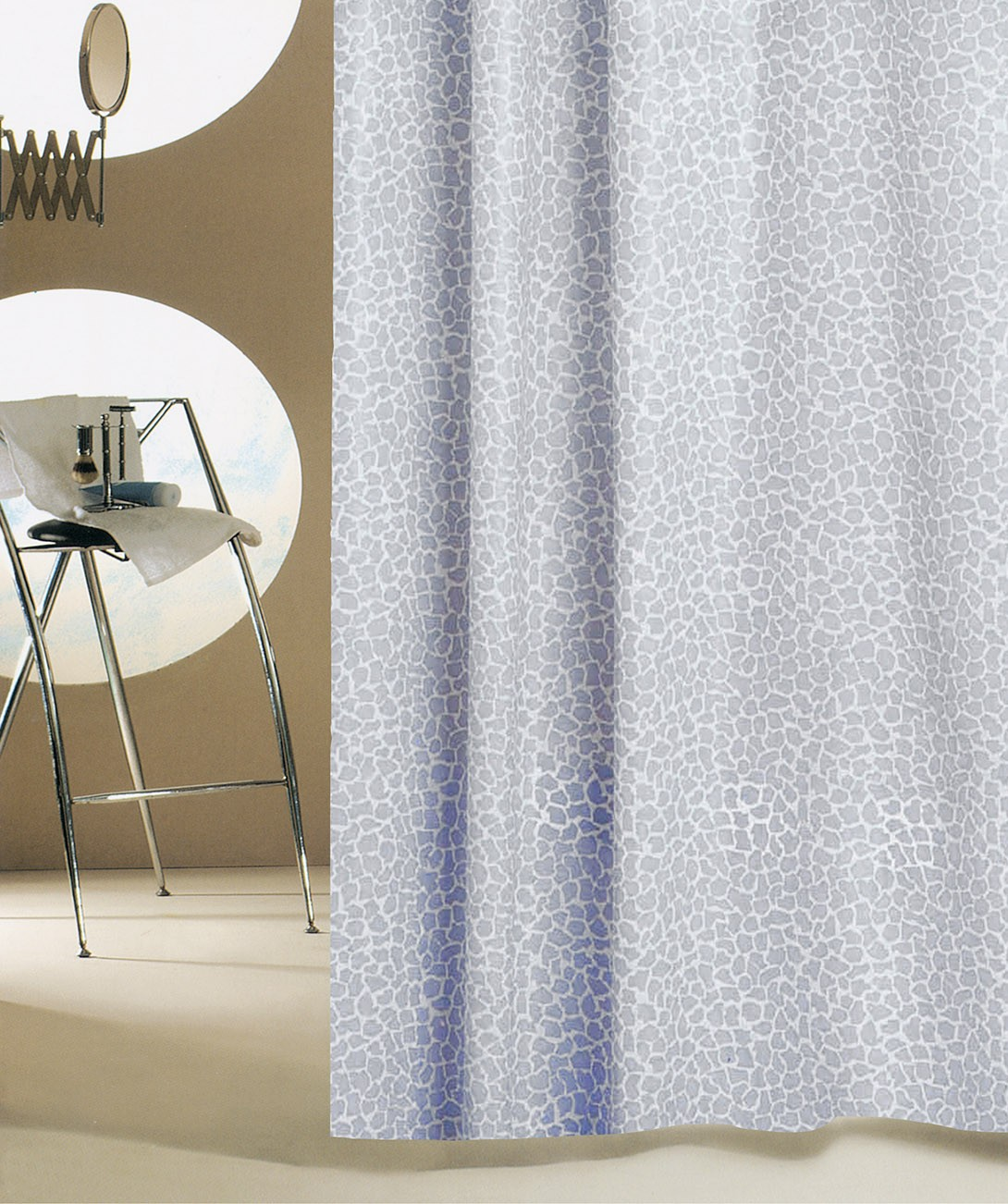 Κουρτίνα Μπάνιου Οικολογική San Lorentzo Mosaic Grey