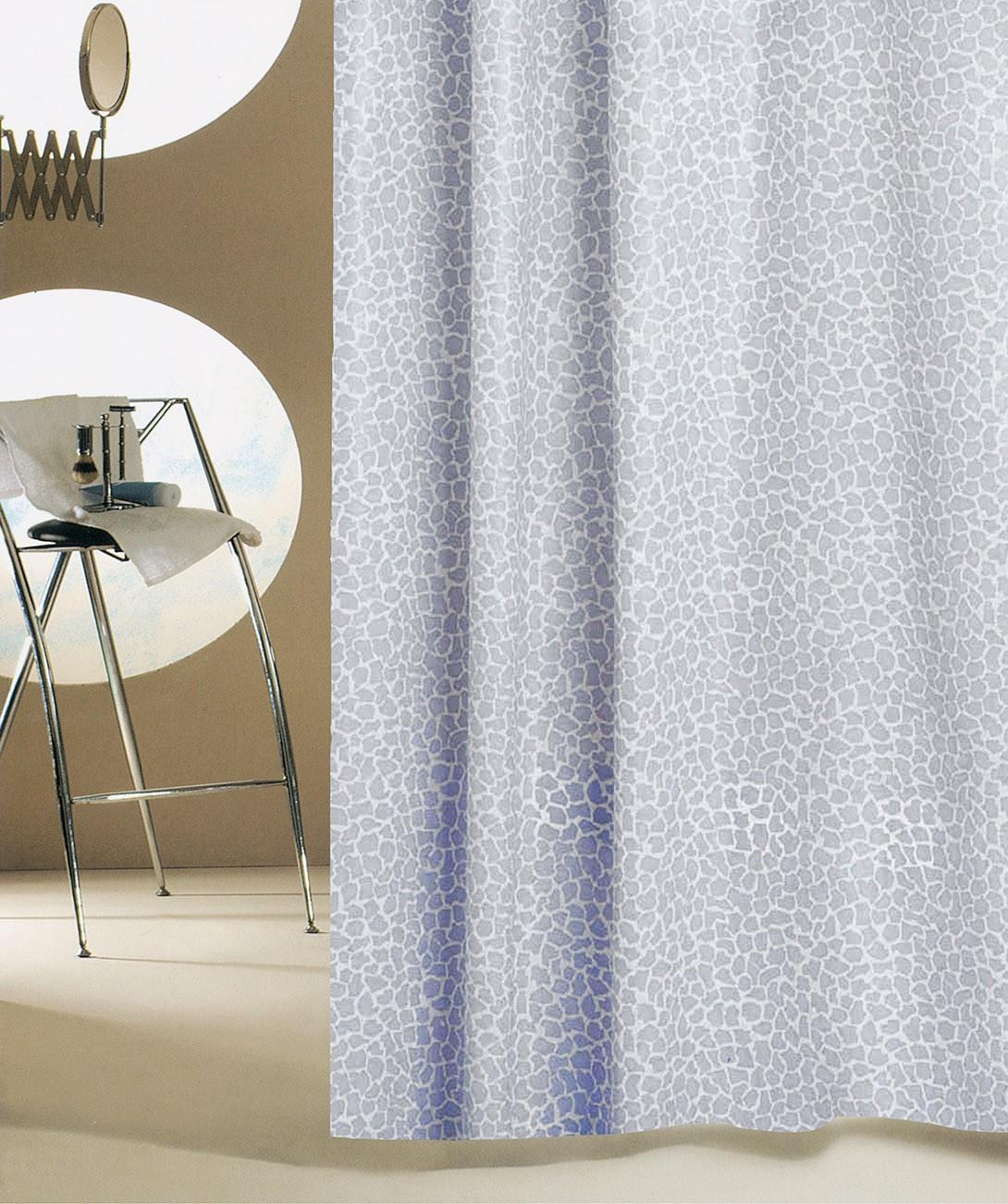 Κουρτίνα Μπάνιου Πλαστική (180×180) San Lorentzo Mosaic Grey