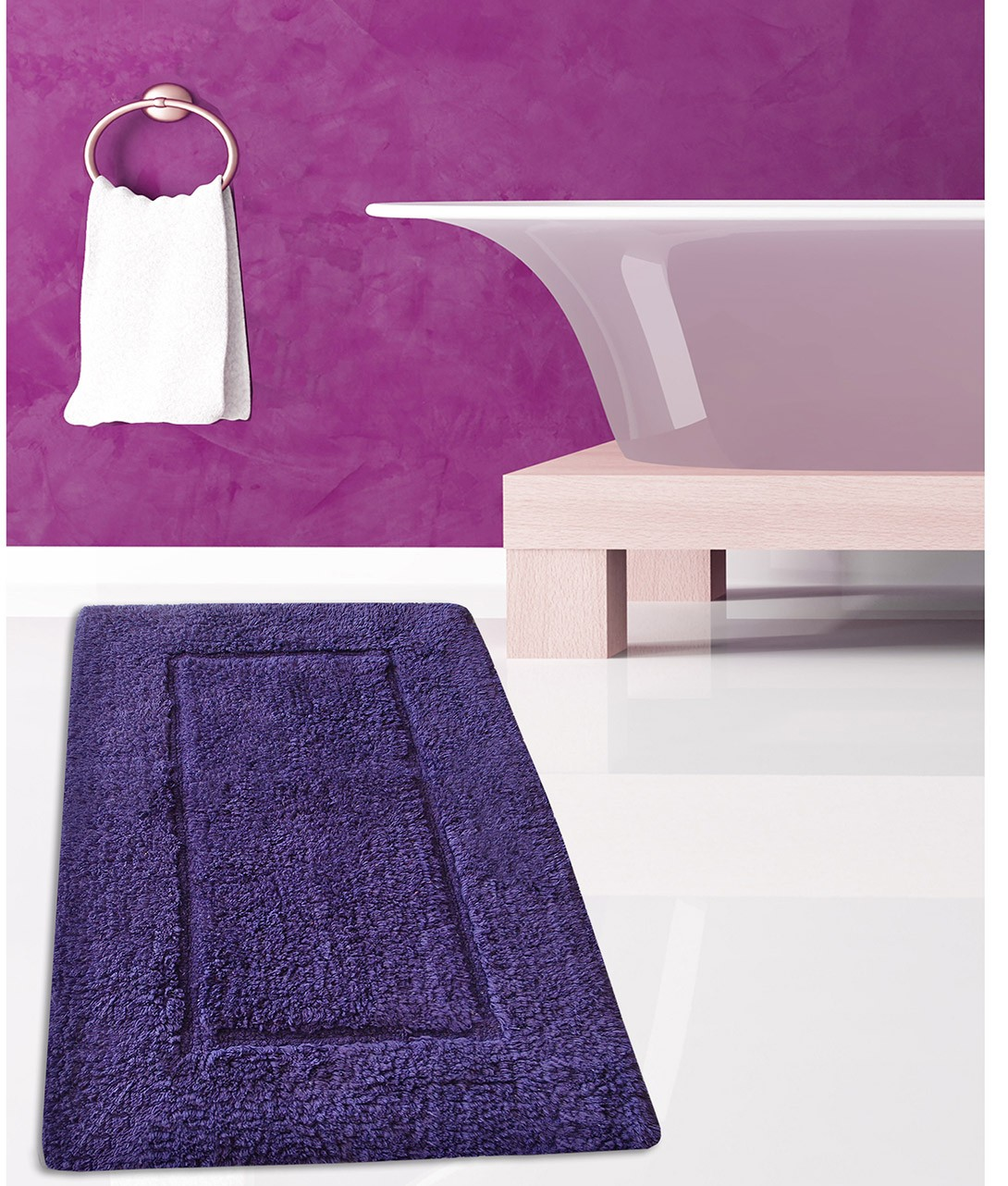Πατάκι Μπάνιου (50x80) San Lorentzo Border Purple