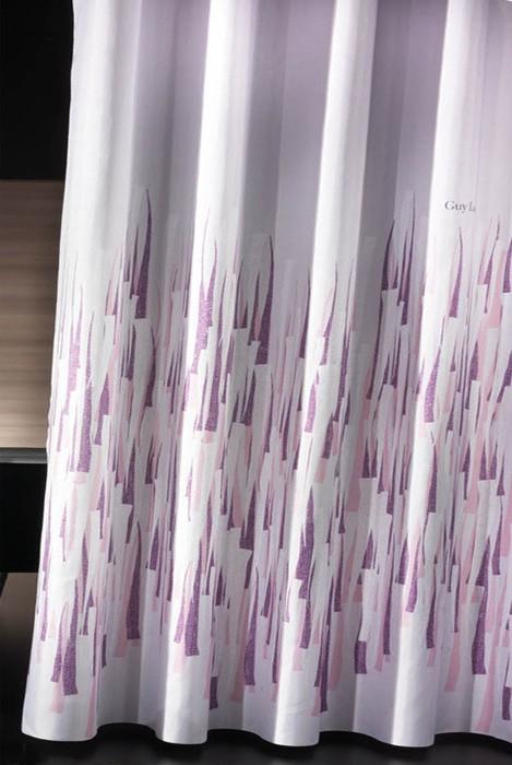 Κουρτίνα Μπάνιου Υφασμάτινη Guy Laroche Fiesta Pinky-Lilac 240×1