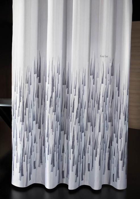 Κουρτίνα Μπάνιου Υφασμάτινη Guy Laroche Fiesta Smoke 180×190