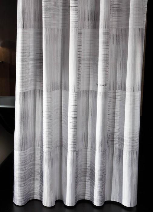 Κουρτίνα Μπάνιου Υφασμάτινη Guy Laroche Cozy Grey Black 240×190