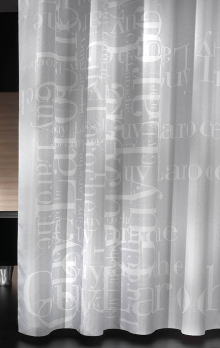 Κουρτίνα Μπάνιου Υφασμάτινη Guy Laroche Gramma Light Grey 180×19