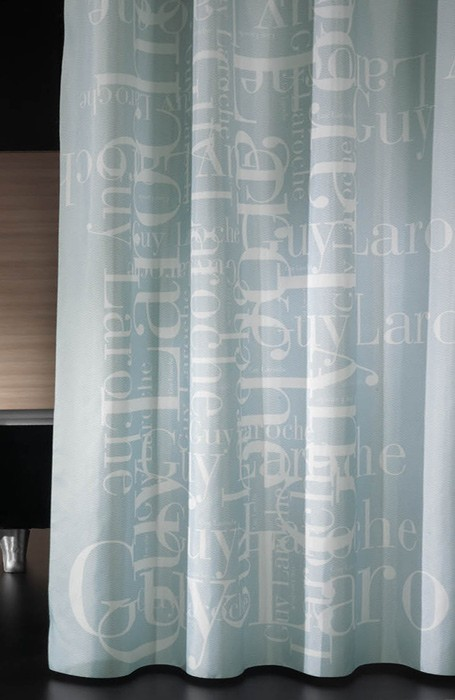 Κουρτίνα Μπάνιου Υφασμάτινη Guy Laroche Gramma Aqua 240×190