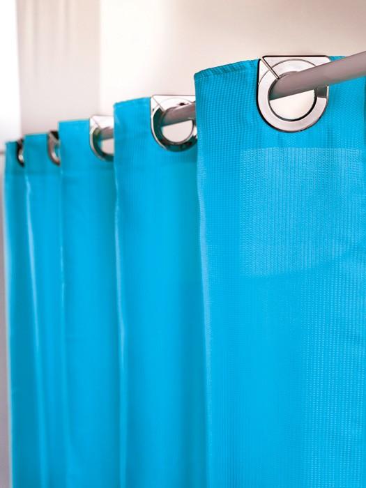 Κουρτίνα Μπάνιου Υφασμάτινη Guy Laroche Astrid Turquoise 240×200