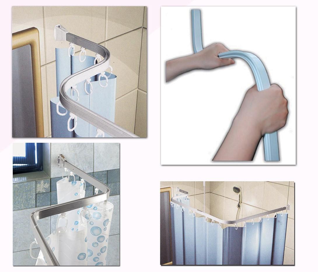 Βραχίονας Μπάνιου 100x100x100 San Lorentzo Bendy Λευκό SC7300