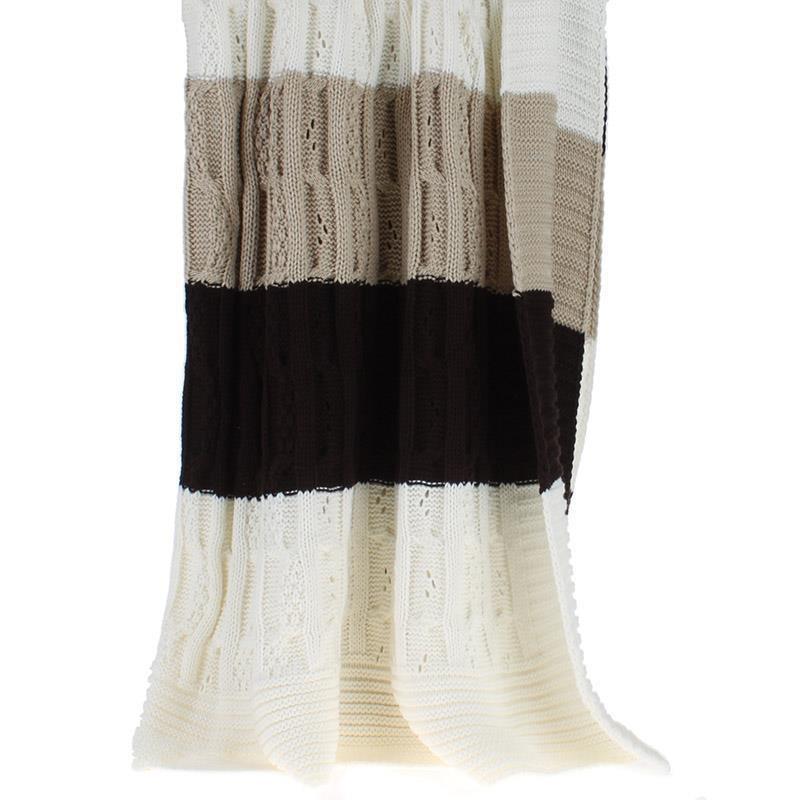 Κουβέρτα Καναπέ Πλεκτή InArt Tricolour Bitter 3-40-301-0007