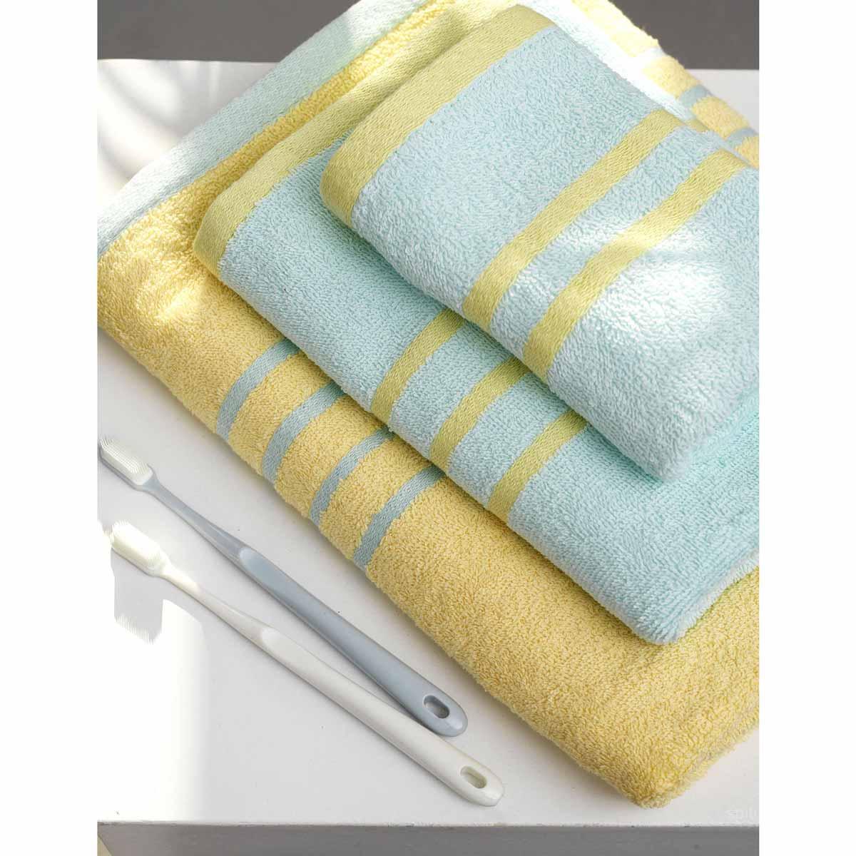 Πετσέτες Μπάνιου (Σετ 3τμχ) Palamaiki Towels Contrast Yellow/Ciel
