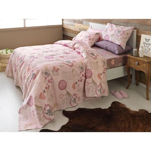 Φανελένια Σεντόνια Υπέρδιπλα (Σετ) Palamaiki Beauty Flannel 202