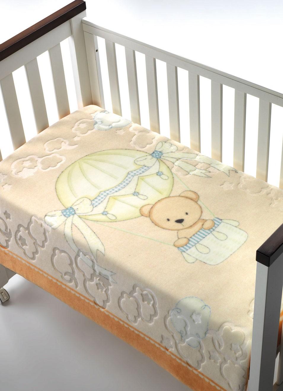 Κουβέρτα Βελουτέ Κούνιας Morven Luxury Plus 042 Πορτοκαλί