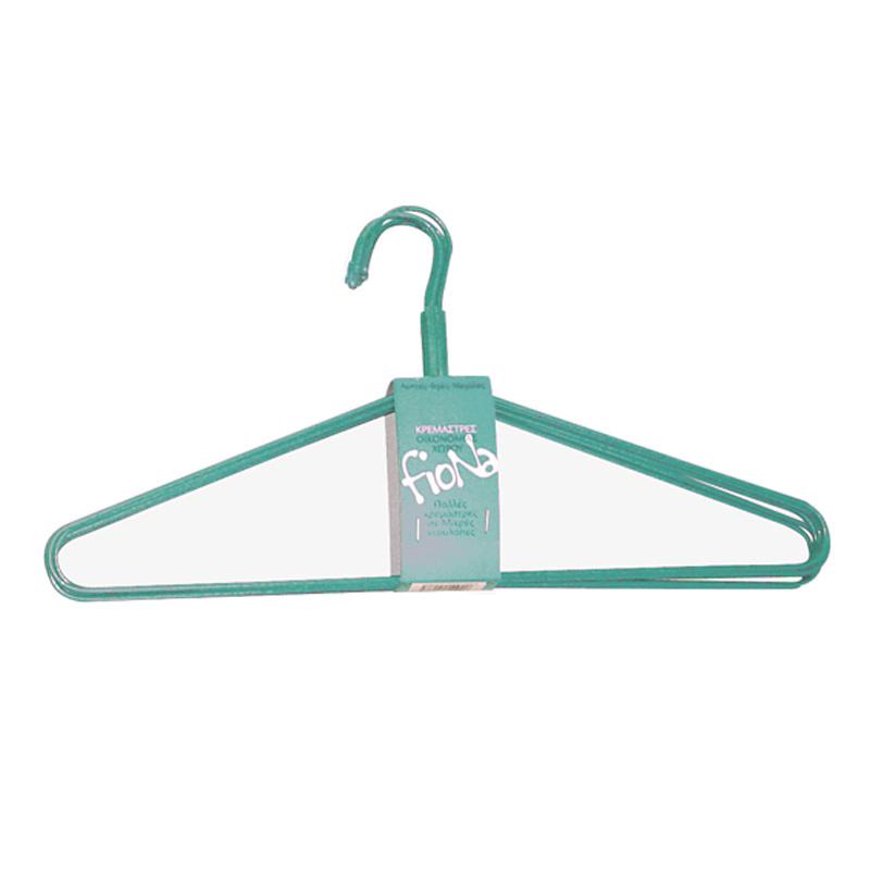 Κρεμάστρες Ρούχων (Σετ 4τμχ) Άννα Λύση Fiona Γαλάζιο 2320/80