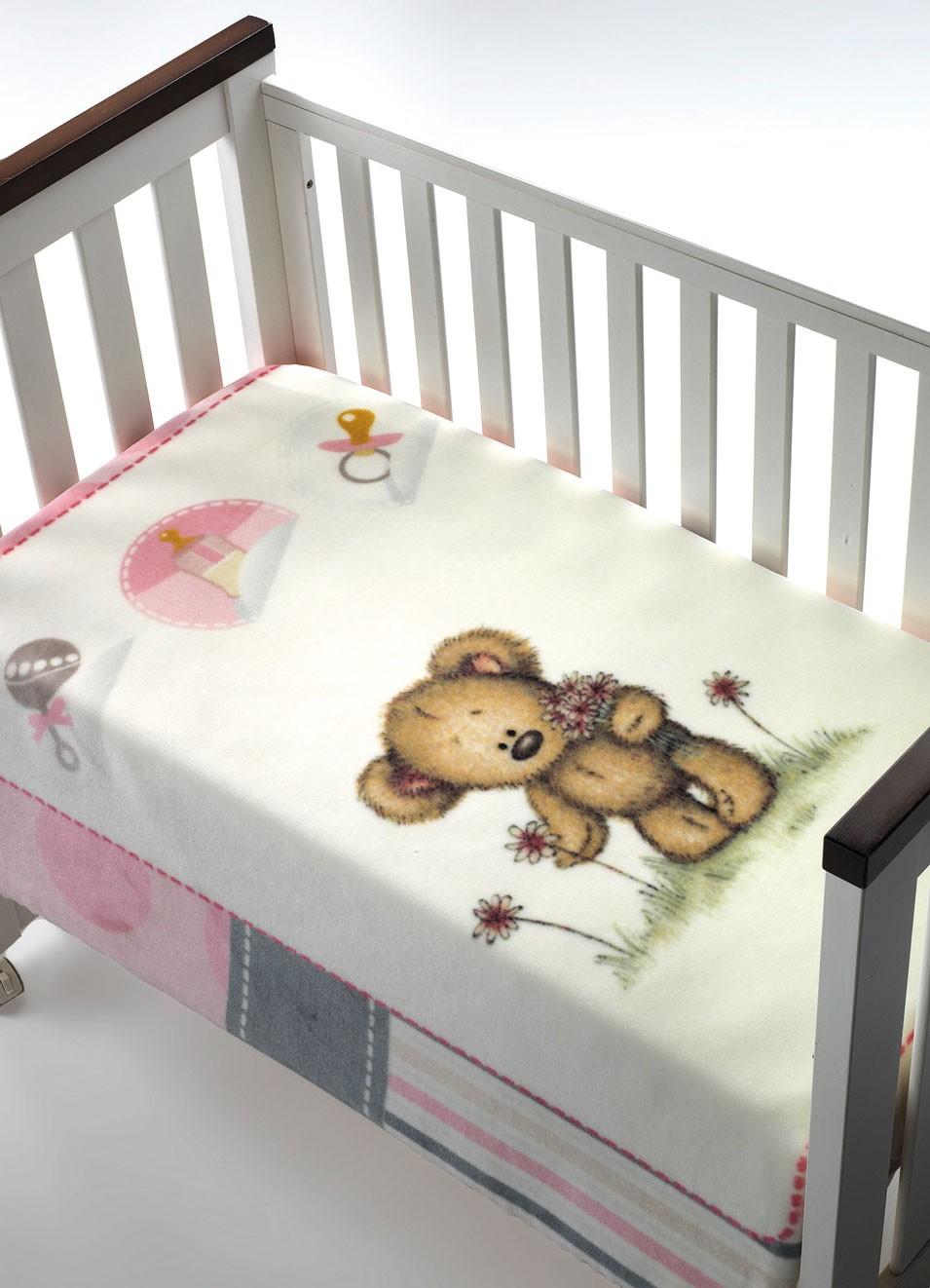 Κουβέρτα Βελουτέ Κούνιας Morven Piccola 012 Ροζ