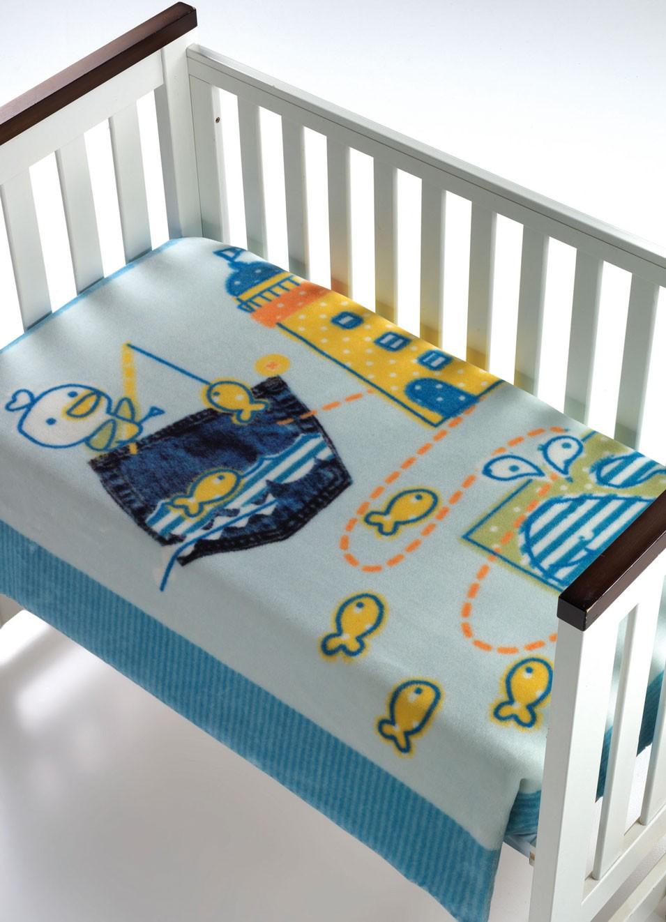 Κουβέρτα Βελουτέ Κούνιας Morven Magic Baby 055 Σιέλ