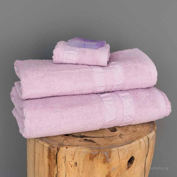 Πετσέτες Μπάνιου (Σετ 3τμχ) Palamaiki Towels Cactus Lilac