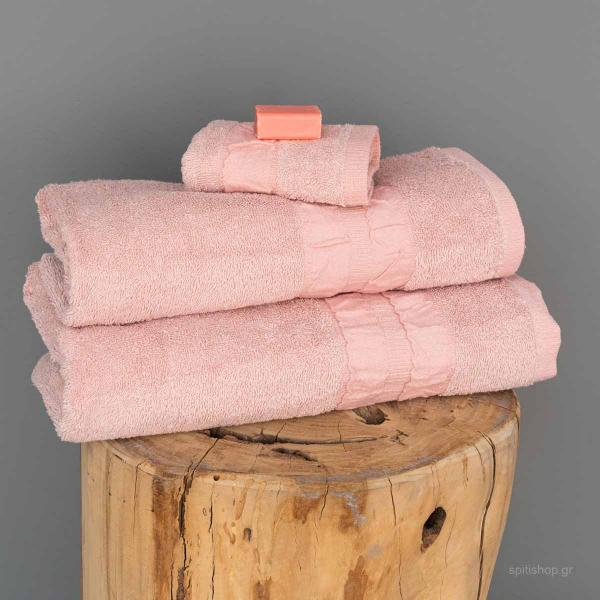 Πετσέτες Μπάνιου (Σετ 3τμχ) Palamaiki Towels Cactus Pink