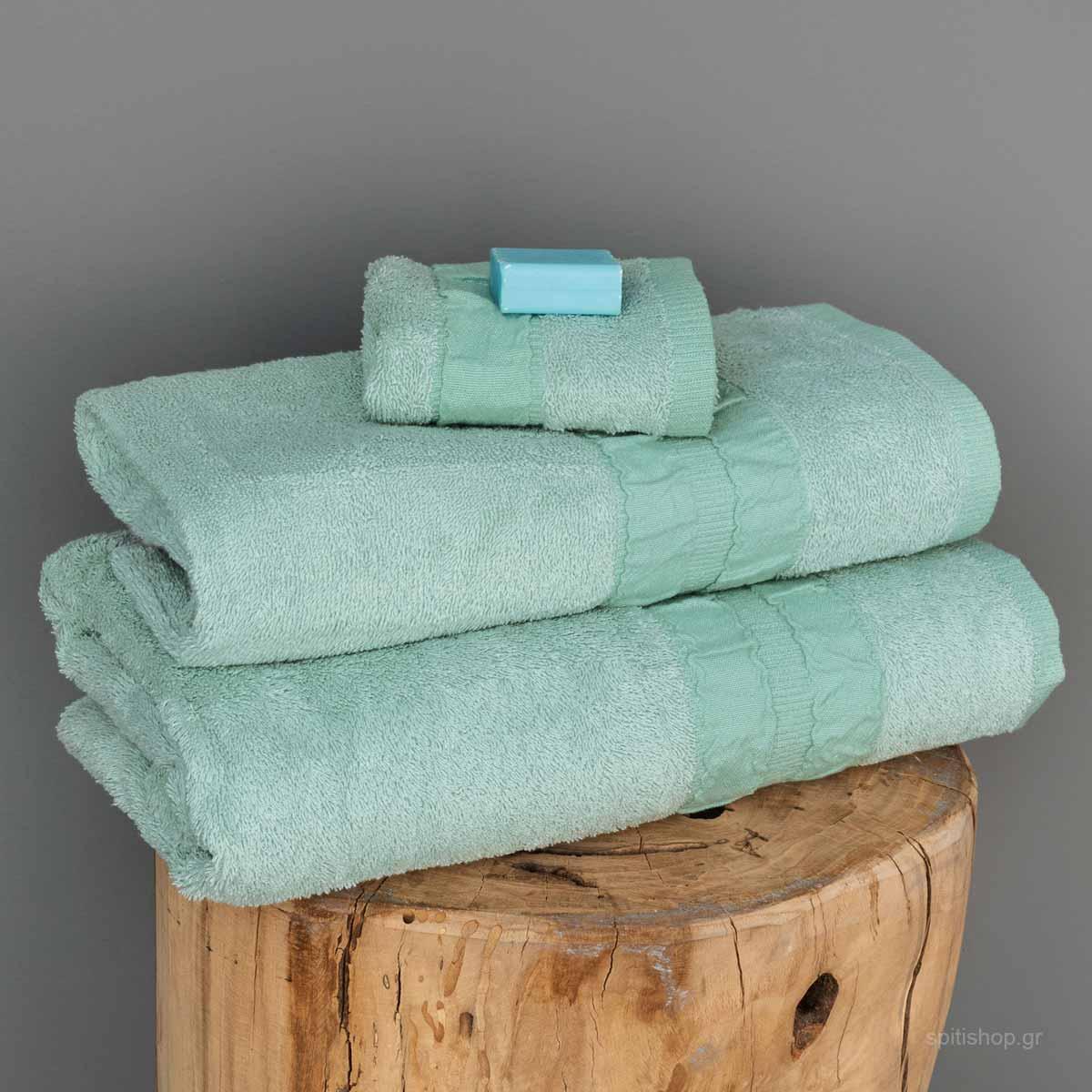 Πετσέτες Μπάνιου (Σετ 3τμχ) Palamaiki Towels Cactus Spray