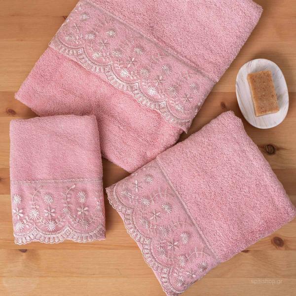 Πετσέτες Μπάνιου (Σετ 3τμχ) Palamaiki Towels Dida