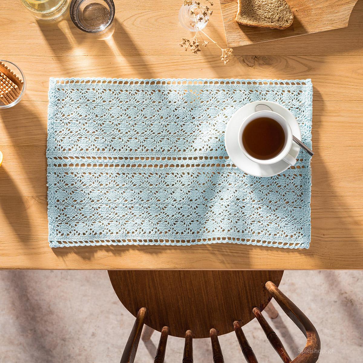 Σουπλά (Σετ 2τμχ) Gofis Home Crochet Ciel 019/01