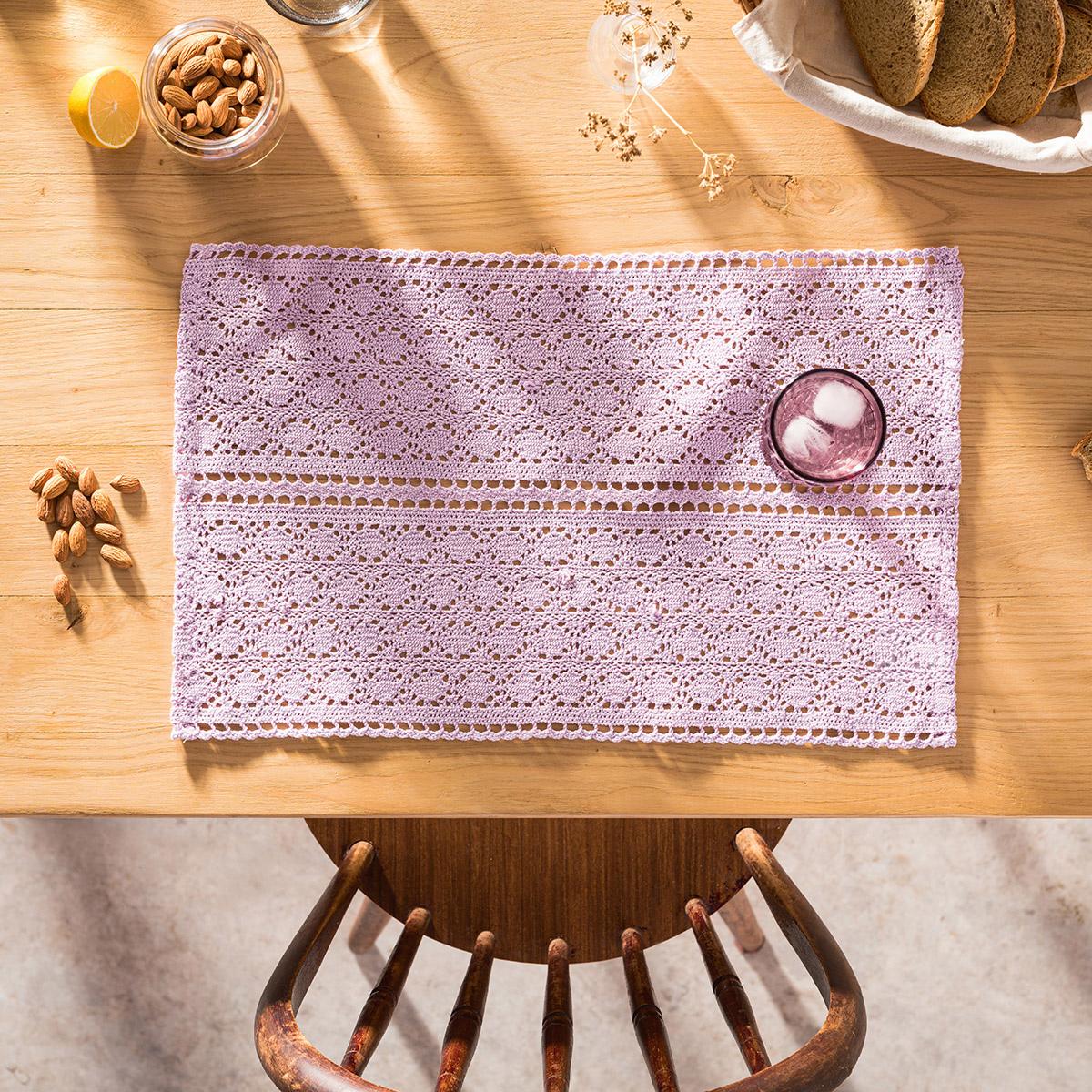 Σουπλά (Σετ 2τμχ) Gofis Home Crochet Purple 019/20