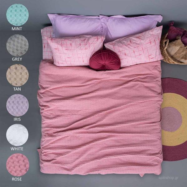 Κουβέρτα Πικέ Μονή Palamaiki Quinn