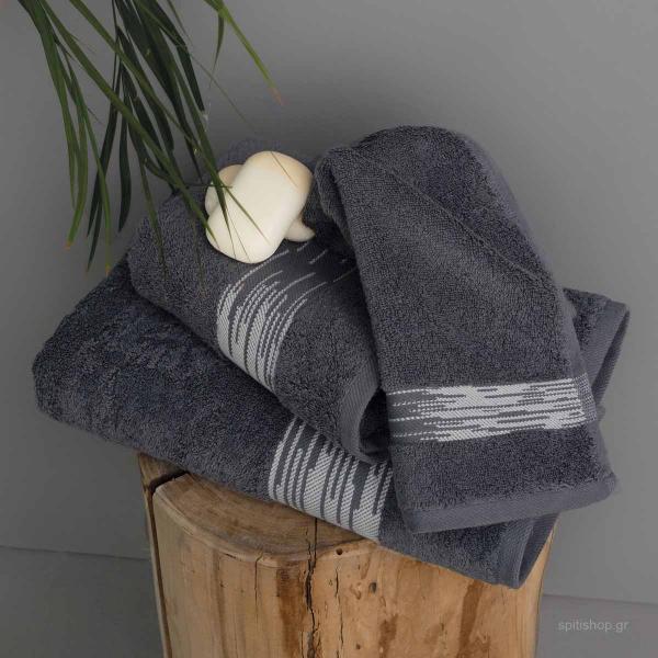 Πετσέτες Μπάνιου (Σετ 3τμχ) Palamaiki Towels Kayle Rock