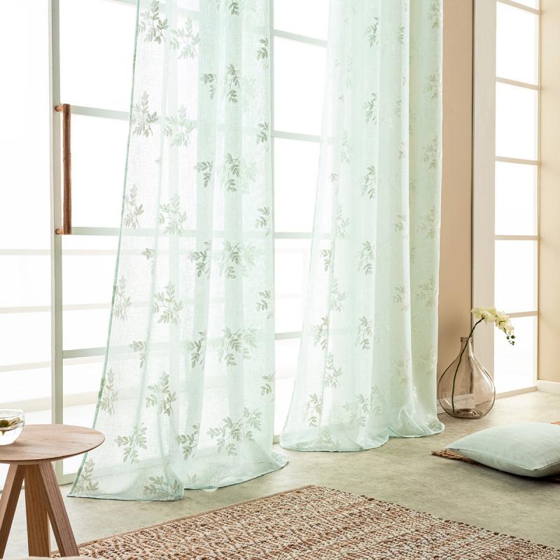 Κουρτίνα (140x280) Με Τρουκς Gofis Home Leaf Aqua 532/18