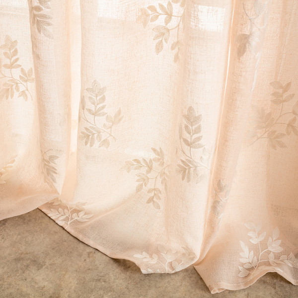 Κουρτίνα (140x280) Με Τρέσα Gofis Home Leaf Peach 532/25