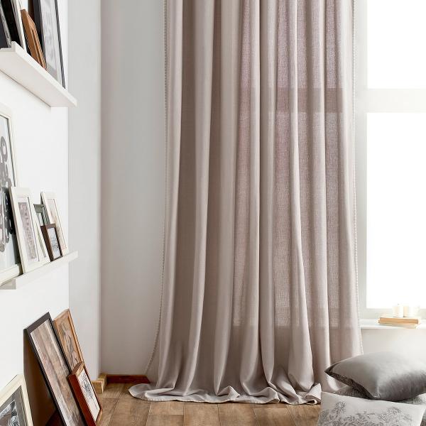 Κουρτίνα (140x280) Με Τρέσα Gofis Home Punto Grey 436/15