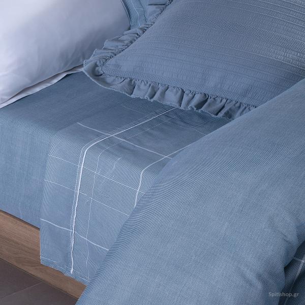 Κουβερλί Υπέρδιπλο Nef-Nef Premium Arthur Blue