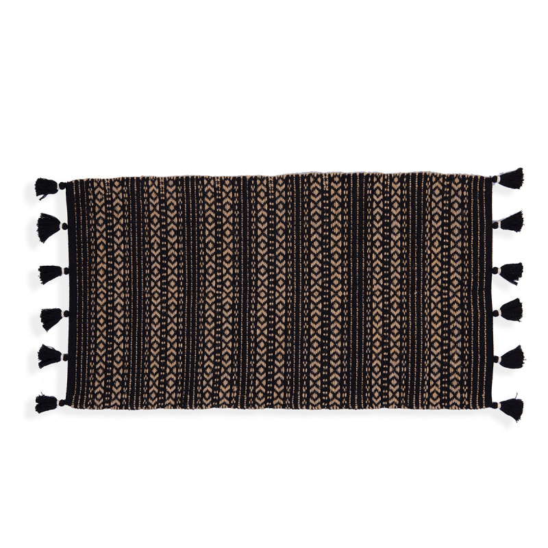 Χαλί Διαδρόμου (65x130) Nef-Nef Depay Natural/Black
