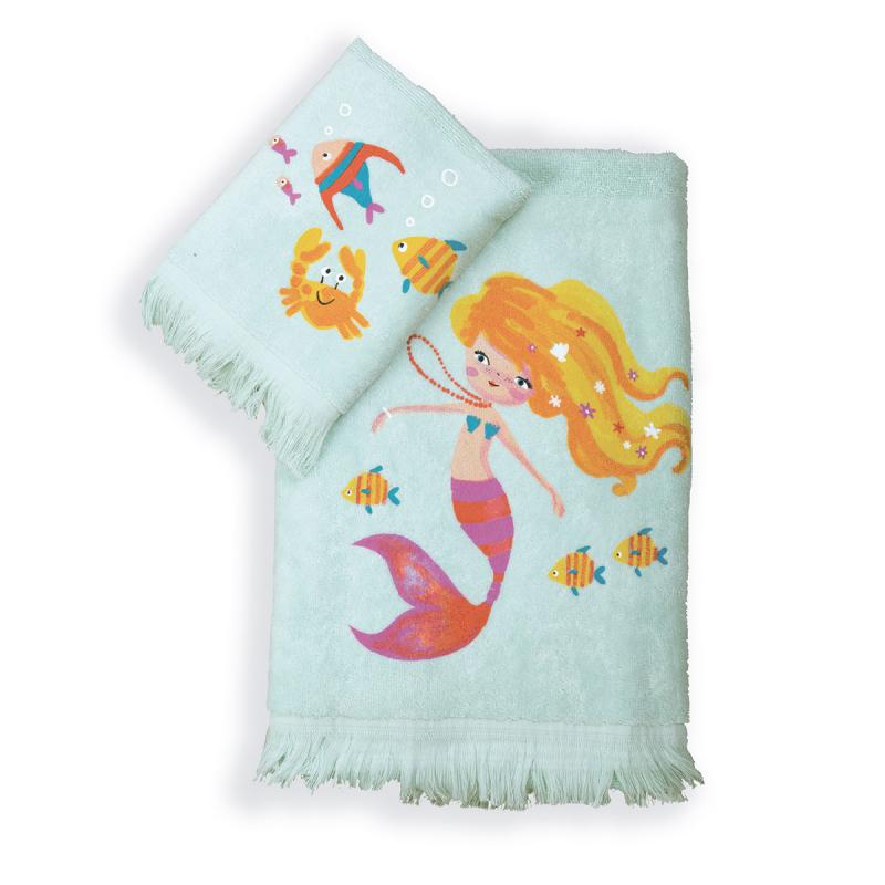 Παιδικές Πετσέτες (Σετ 2τμχ) Nef-Nef Mermaids Day