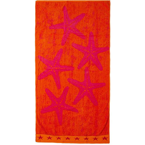 Πετσέτα Θαλάσσης Dimcol Star Orange 119