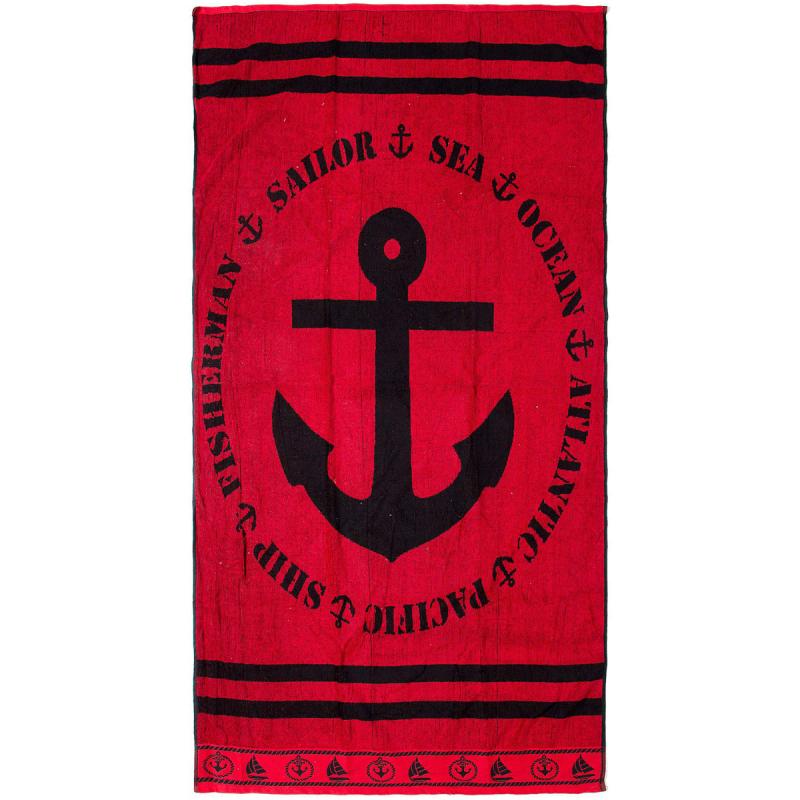 Πετσέτα Θαλάσσης Dimcol Anchor Red 103